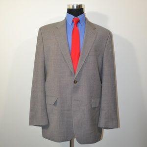 Ralph Lauren 44L Sport Coat Blazer Suit Jacket Gra